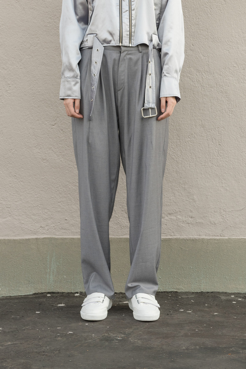 17FW UNISEX Wide Slacks - Grey