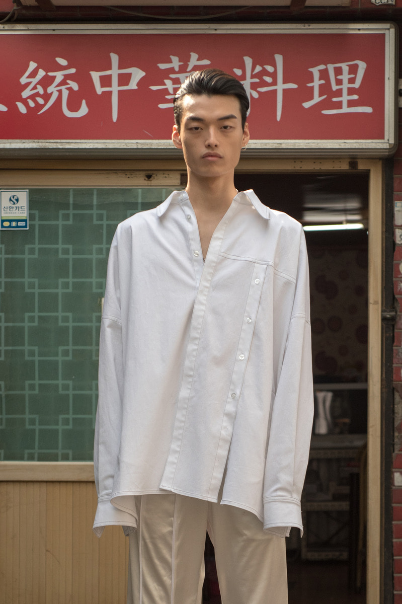 17 FW UNISEX Open Shirts - White