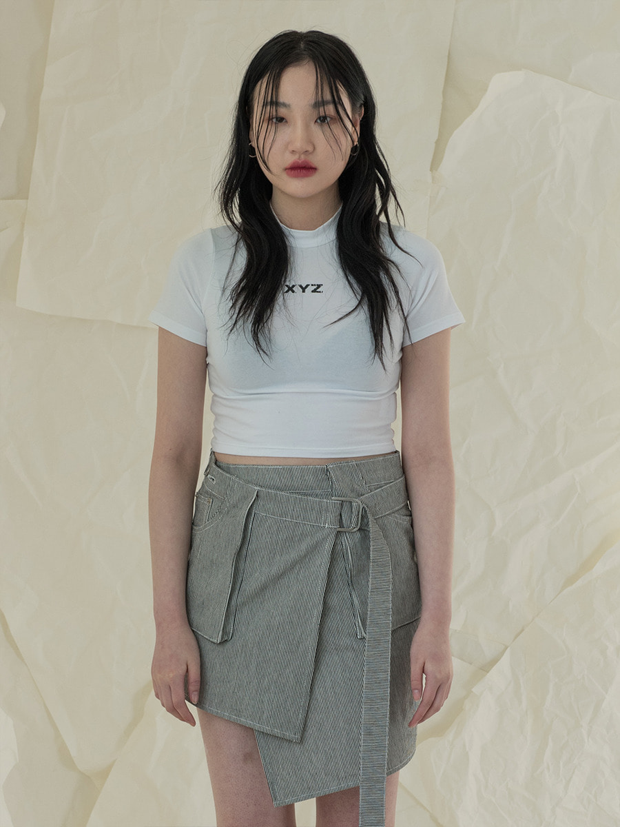 [2차 재입고] 18SS LOGO CROP T-SHIRT - WHITE