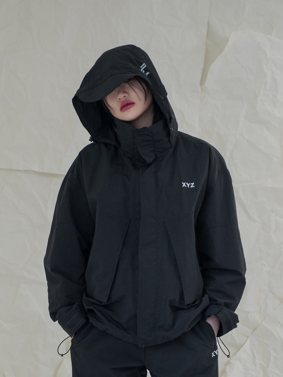 18SS UNISEX POCKET WINDBREAKER - BLACK