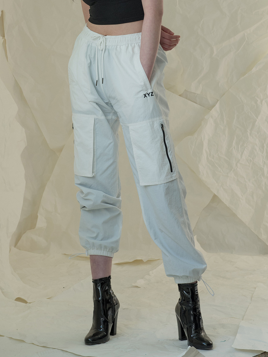 [2차 재입고] 18SS UNISEX POCKET JOGGER PANTS - WHITE