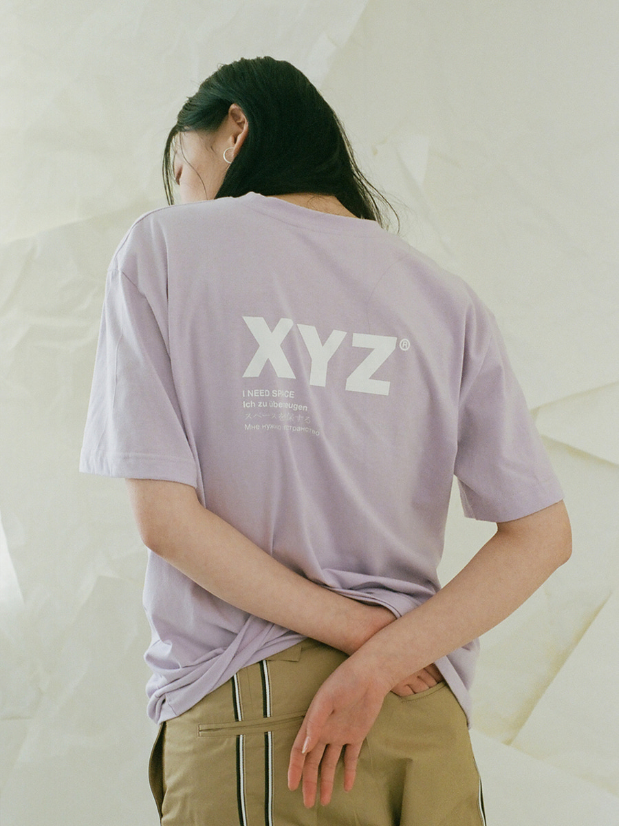 [2차 재입고] 18SS UNISEX LOGO T-SHIRT - LIGHT PURPLE