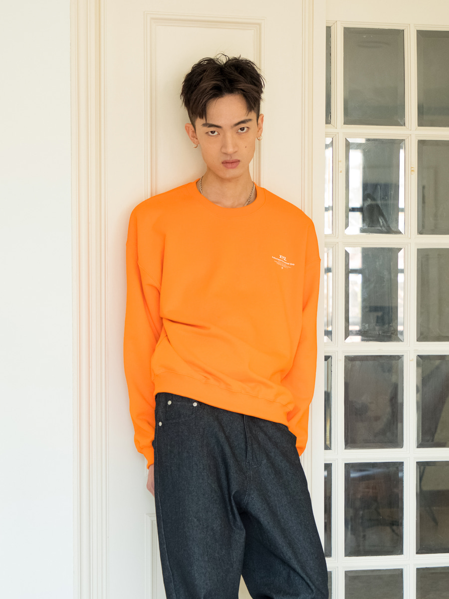 19SS UNISEX LOGO SWEATSHIRT - ORANGE