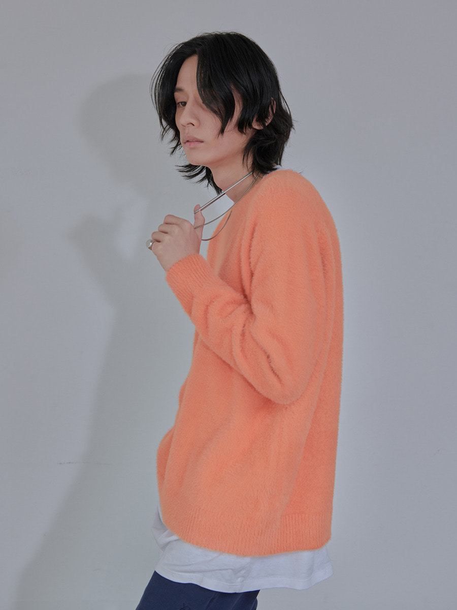 UNISEX ANGORA ORIGINAL KNIT - ORANGE
