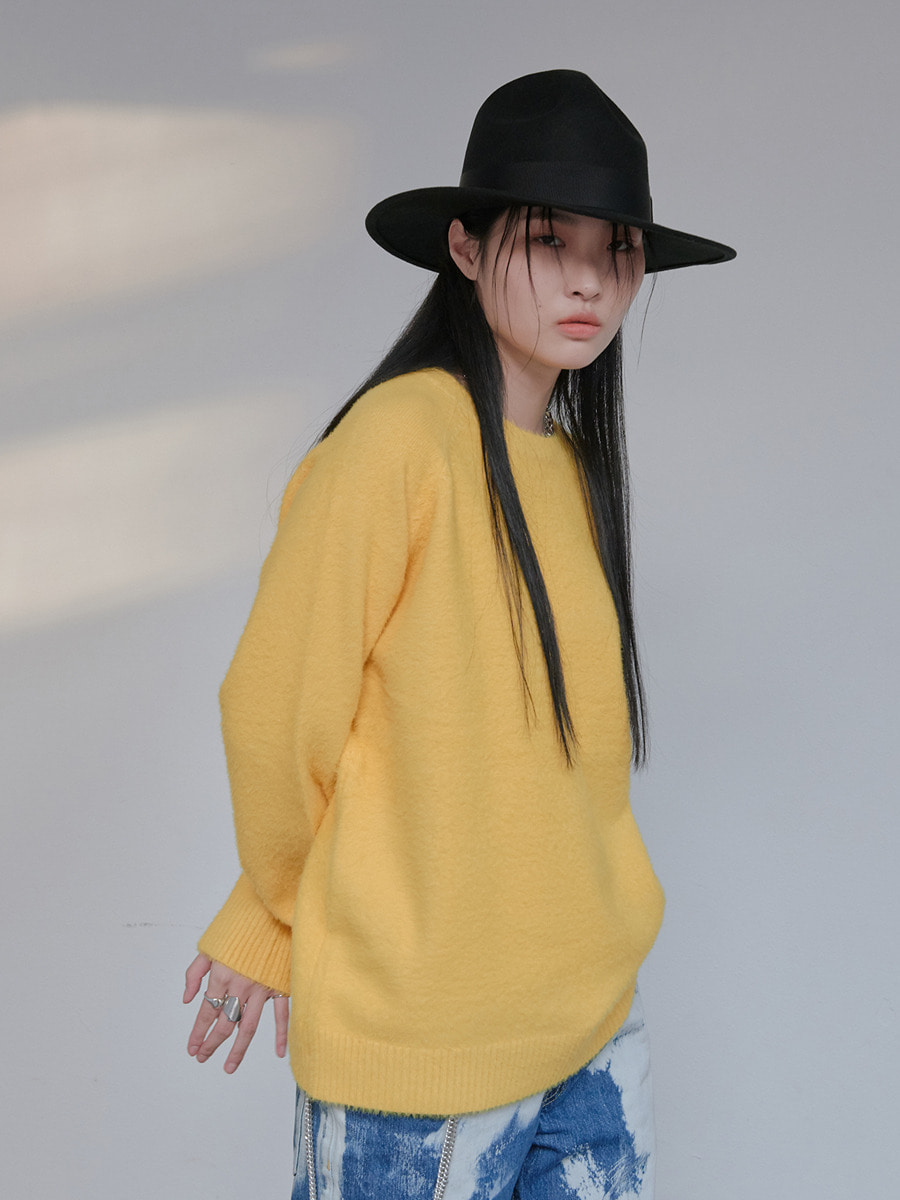 UNISEX ANGORA ORIGINAL KNIT - YELLOW