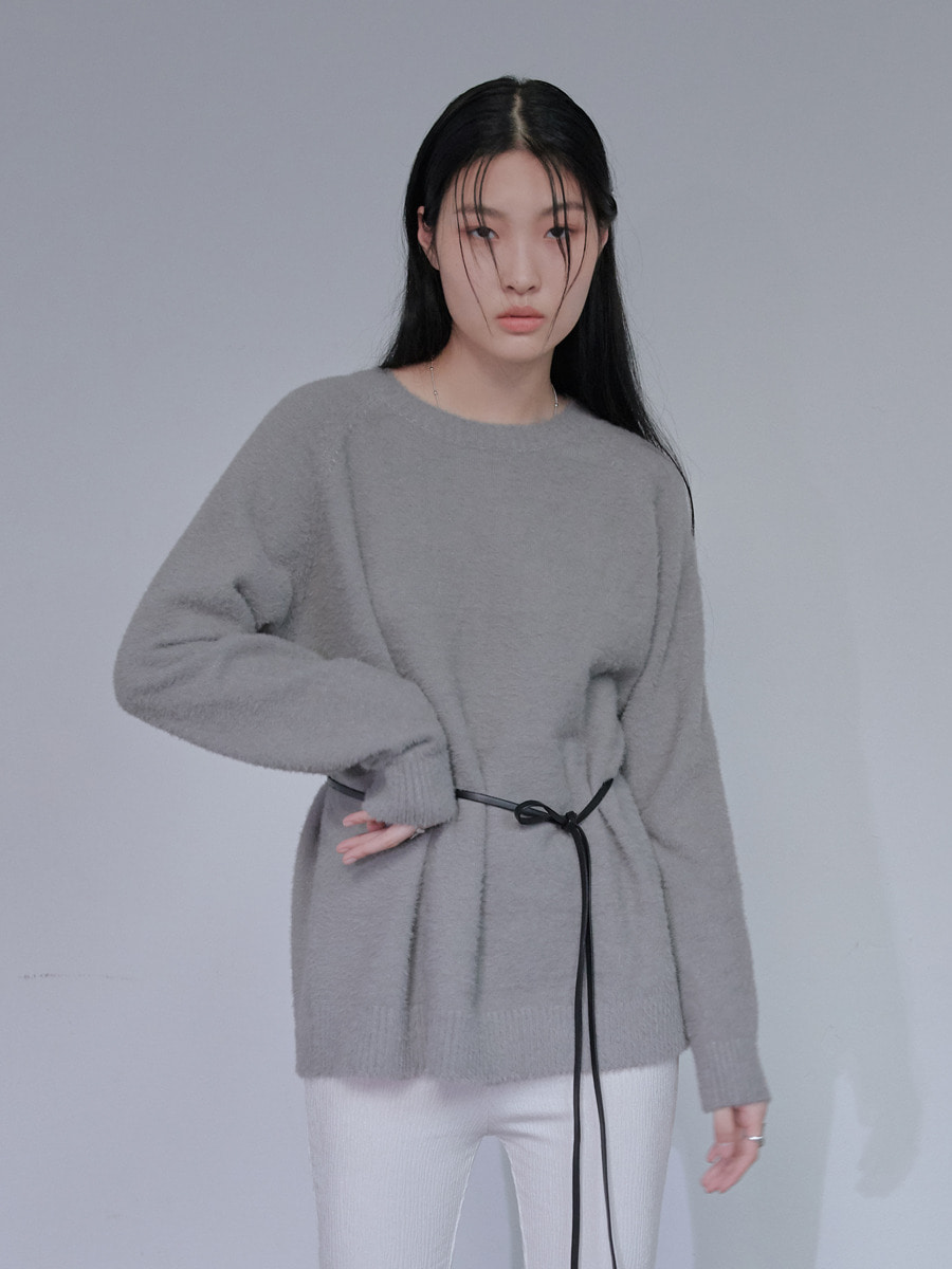UNISEX ANGORA ORIGINAL KNIT - GREY