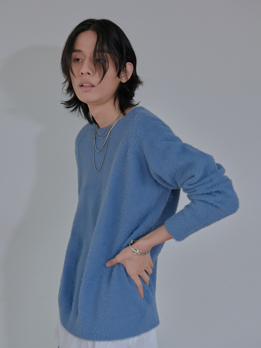 UNISEX ANGORA ORIGINAL KNIT - BLUE
