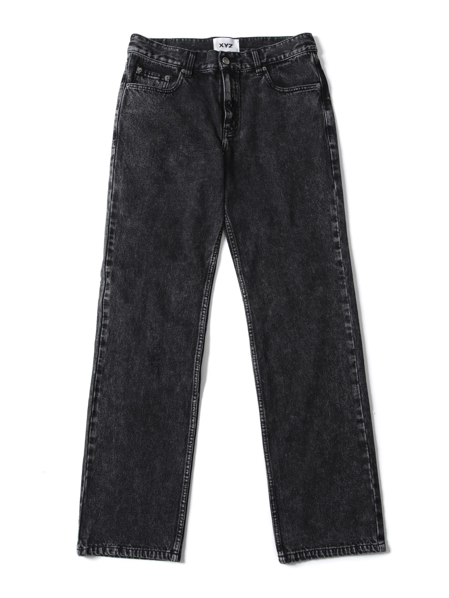 UNISEX STONE WASHING DENIM - BLACK