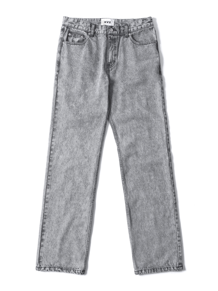 UNISEX STONE WASHING DENIM - GREY
