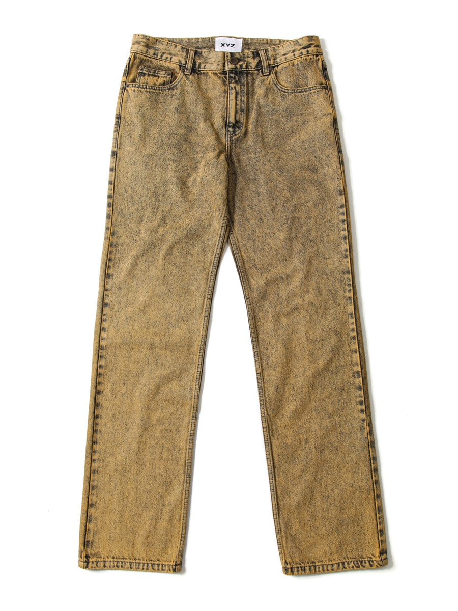 UNISEX STONE WASHING DENIM - YELLOW